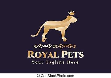 haustier, logo, abstraktes konzept, hund