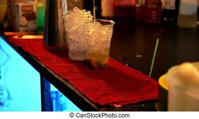haut., barman, cocktail., closeup, confection, vitesse