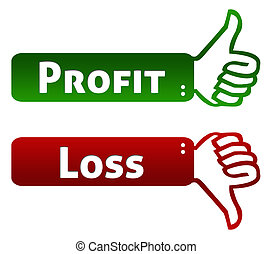 haut, bas, profit, pouce, perte