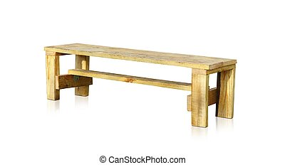 haut., bench., bois, isolé, fond, fin, blanc