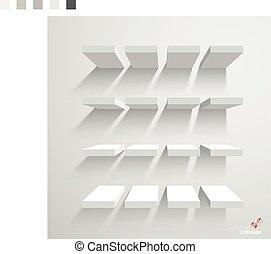 haut., blanc, escalier, railler