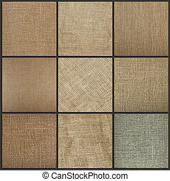 haut., burlap, collection, fond, texture, fin