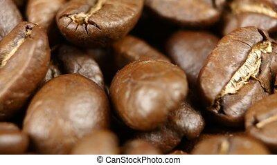 haut., café, tourner, tourner, haricots, turntable., fin,...