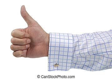 haut, (checked, pouces, shirt)