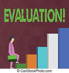 haut., concept, jugement, réaction, business, evaluation., texte, serviette, expression, ecriture homme affaires, quoique, porter, quelque chose, mot, évaluer, escalade, qualité, perforanalysisce, songeur