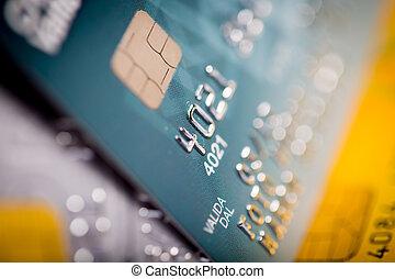 haut, crédit, fin, carte