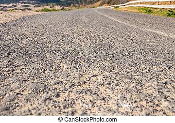 haut fin, asphaltez route, photo