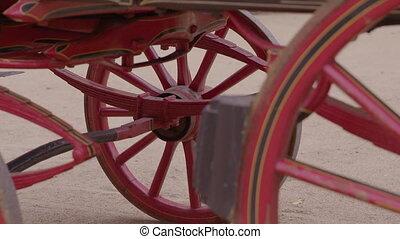 haut fin, dessous, chariot