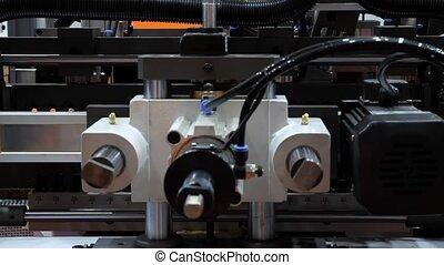 haut., fonctionnement, processus, moderne, automatisé, factory., fin