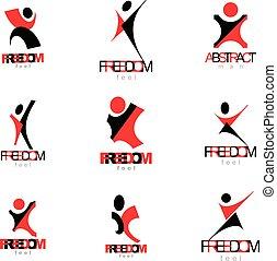 haut., illustration., business, atteindre, réussi, résumé, bras, illustration, personne, vecteur, excité, homme