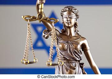 haut., israël, justice, flag., symbole, fin, droit & loi