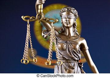 haut., justice, flag., symbole, état, fin, droit & loi, idaho