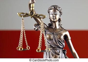 haut., justice, flag., symbole, fin, droit & loi, pologne