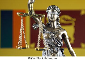 haut., justice, flag., symbole, sri, fin, droit & loi, lanka