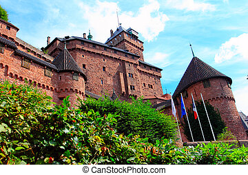 haut-koenigsbourg also known chateau du hout-koenigsbourg in...