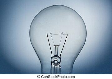 haut, lumière, fin, ampoule