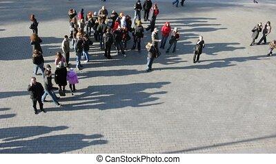 haut., marche, lapse., gens, filtered., rue., temps, vue