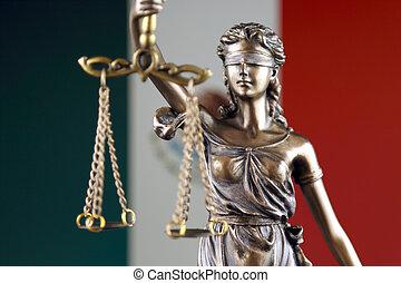haut., mexique, justice, flag., symbole, fin, droit & loi