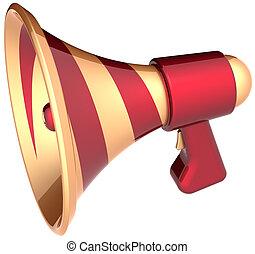 haut-parleur, élégant, porte voix