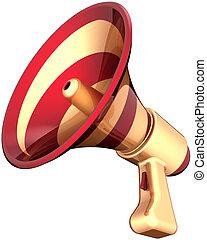haut-parleur, élégant, porte voix, icône