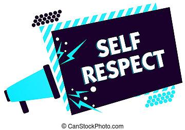 haut-parleur, bleu, confiance, concept, soi-même, haut, texte, cadre, important, vous-même, fierté, signification, loud., rayé, stand, écriture, message, porte voix, respect., soi, parler