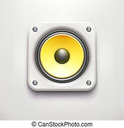 haut-parleur bruyant, son