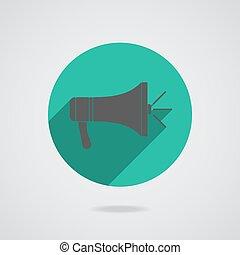 haut-parleur, icon., porte voix, isoler