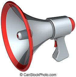 haut-parleur, porte voix, argent
