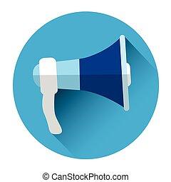 haut-parleur, porte voix, icône
