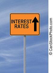 haut, taux intérêt