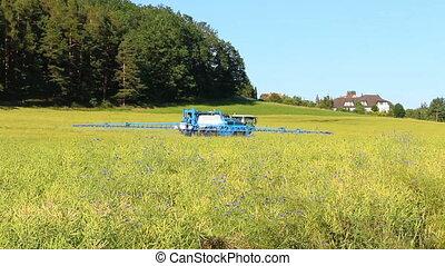 haut, tracteur, concept, champ, dos, agriculture, république...