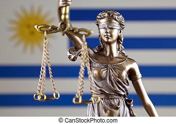 haut., uruguay, justice, flag., symbole, fin, droit & loi