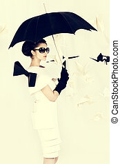 haute couture - Art fashion photo of a gorgeous woman in...