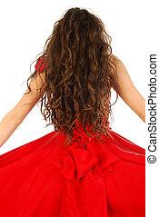 haute couture, czerwony