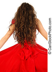 Haute couture red
