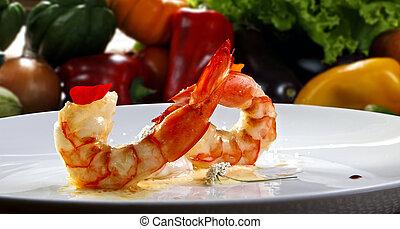haute cuisine shrimp