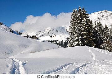 Haute-Savoie landscape in winter