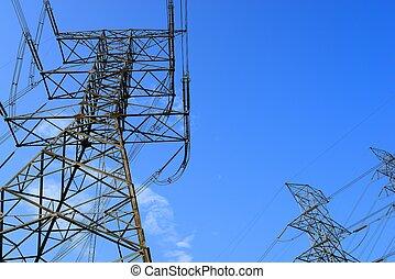 haute tension, pylône