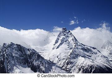 hautes montagnes, nuage