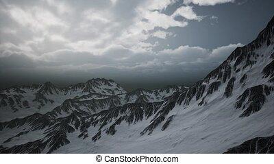 hauts nuages, altitude, crêtes