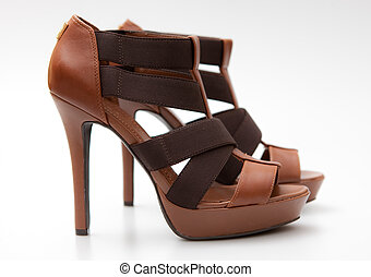 hauts talons, femme, chaussures
