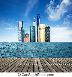 hav, skyskrapor