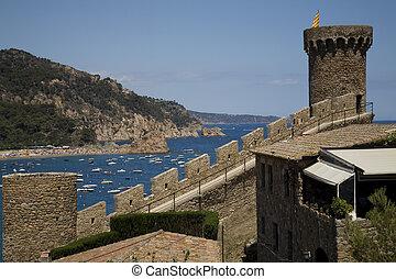 hav udsigt, af, slottet