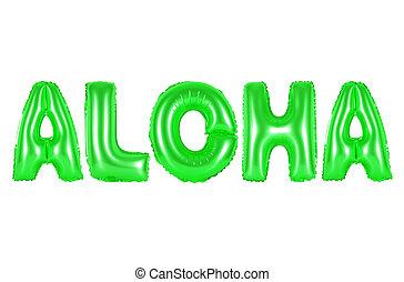 havaí, aloha, verde, cor