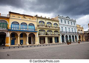 havana., 光景, の, ∥, 古い 都市