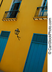Havana building facade - Typical facade with doors and...