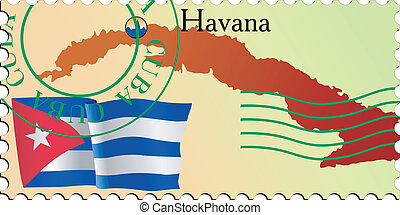 Havana - capital of Cuba. Stamp
