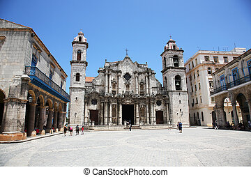 the Havana Cathedral, Cathedral of the Virgin Mary of the Immaculate Conception, Cuba