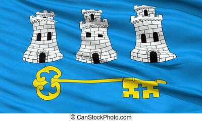 Havana City Close Up Waving Flag
