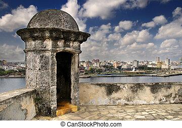 Havana city skyline from Fortress wall - A view of Havana ...